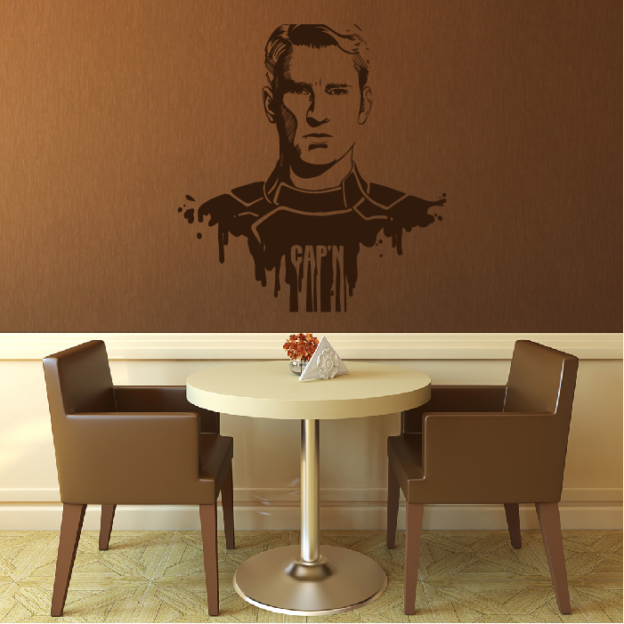 Captain America Superhero Wall Sticker Wall Art
