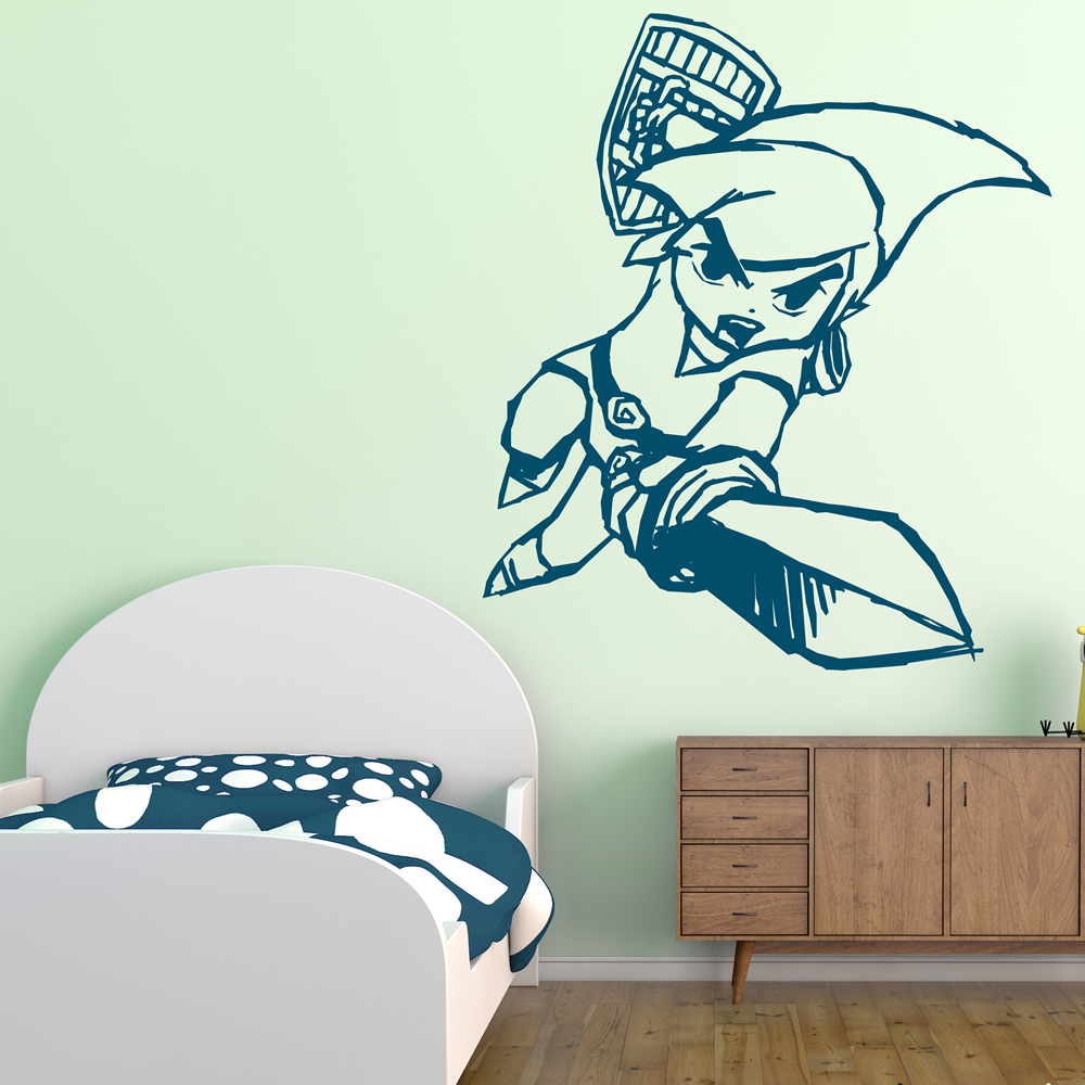 Link Sword Legend Of Zelda Gaming & Entertainment Wall Stickers Home Art Decals