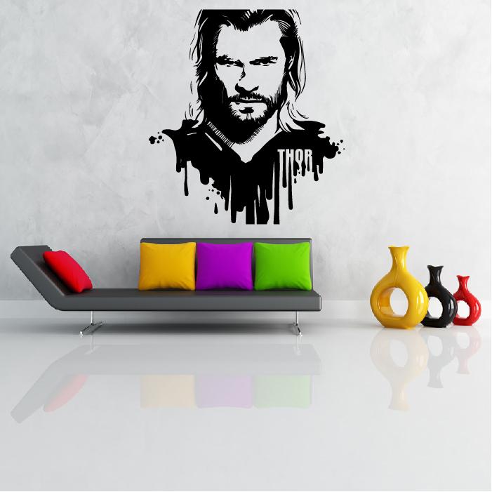 thor superhero wall sticker wall art