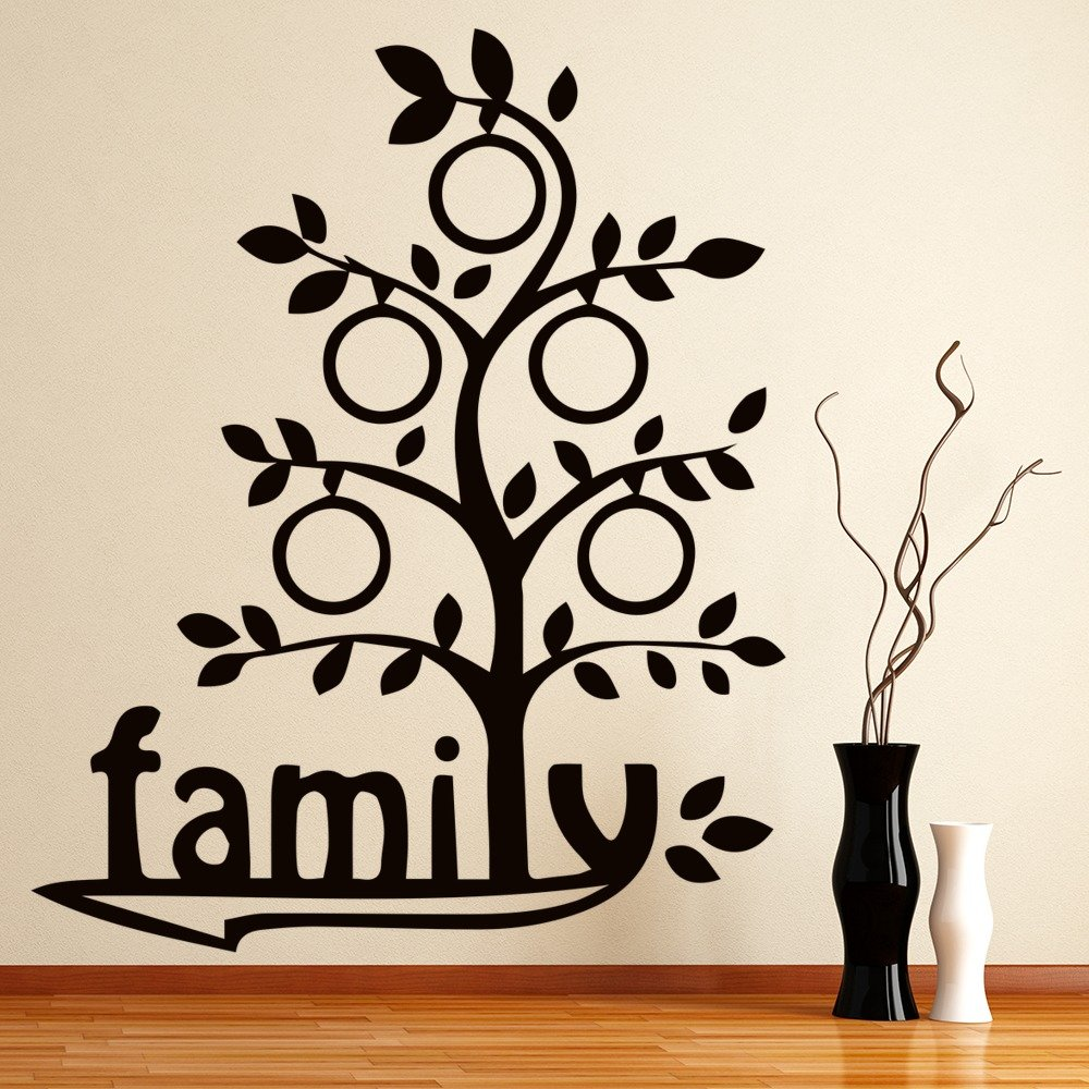 Family Tree Titled Cartoon Family Tree Wall Stickers Home Decor Art Decals