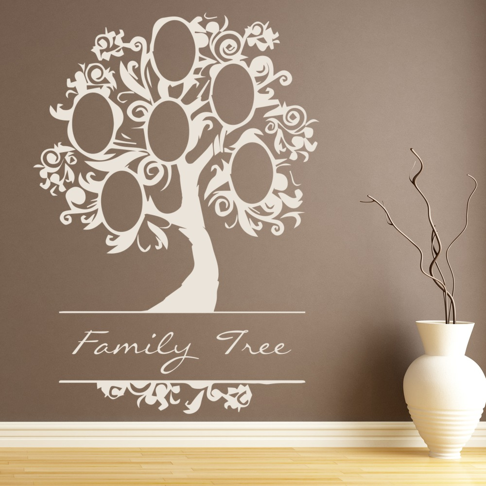 elegant family tree wall sticker family wall art large family inspirational love tree wall art sticker