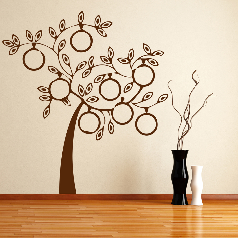 Modern Family Wall Decor : Modern family tree wall sticker art