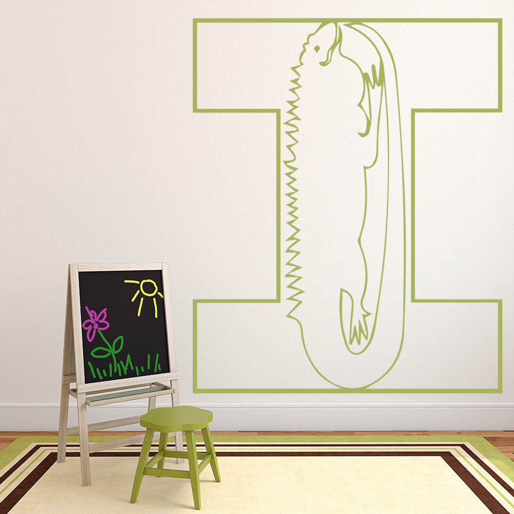 iguana alphabet wall sticker educational wall art