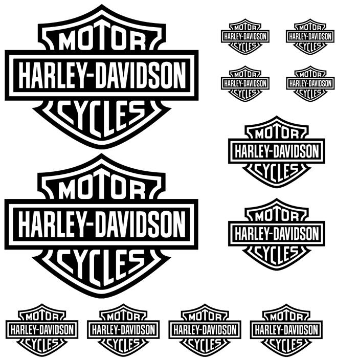 Harley Davidson Motorbike Sticker Pack Harley Davidson Motorbike Decal Pack