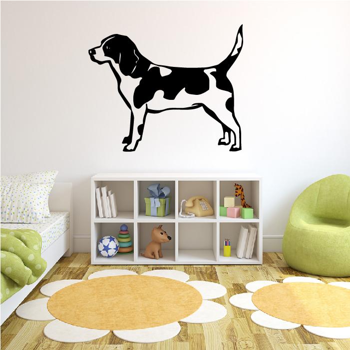 Beagle Standing Wall Sticker Dog Wall Art