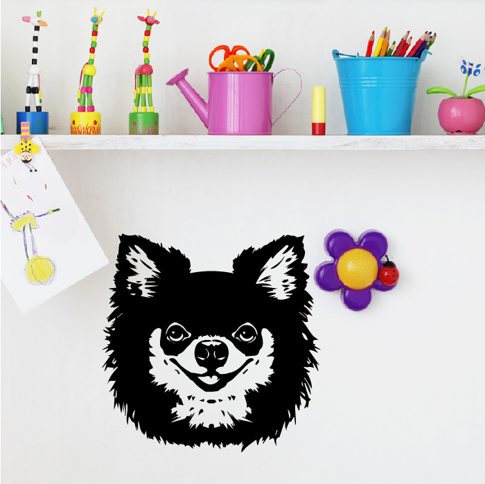 Long Haired Chihuahua Wall Sticker Dog Wall Art