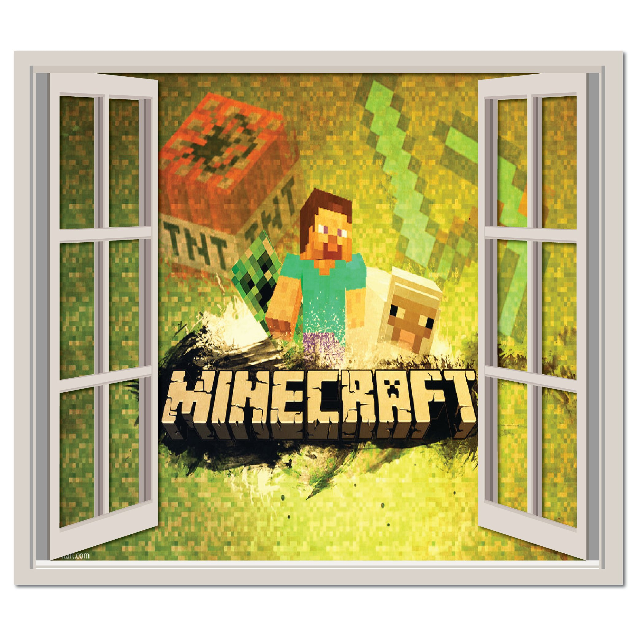 Minecraft Characters Wall Sticker Minecraft Wall Art