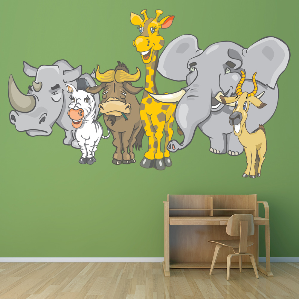 African Safari Animals Digital Wall Sticker