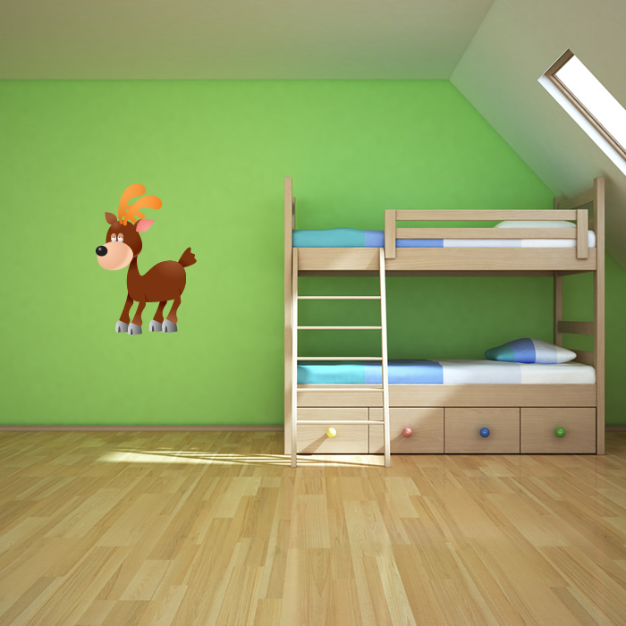 Cartoon Stag Digital Wall Sticker