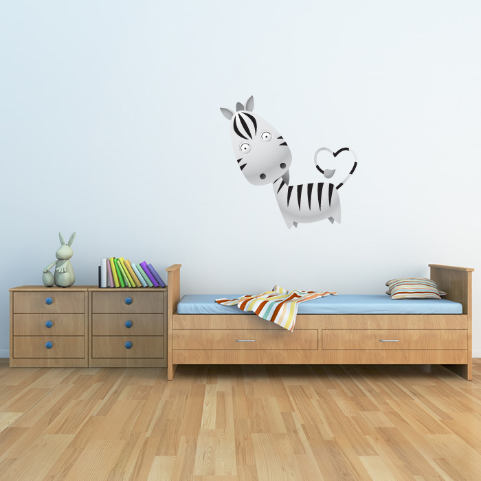 Cartoon Zebra Digital Wall Sticker