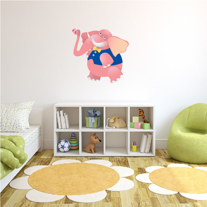 Dancing Elephant Digital Wall Sticker