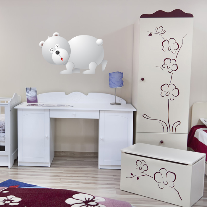 Cartoon Polar Bear Digital Wall Sticker
