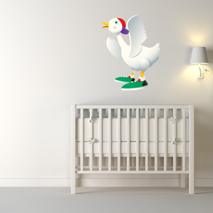 Goose With Trainers Digital Wall Sticker