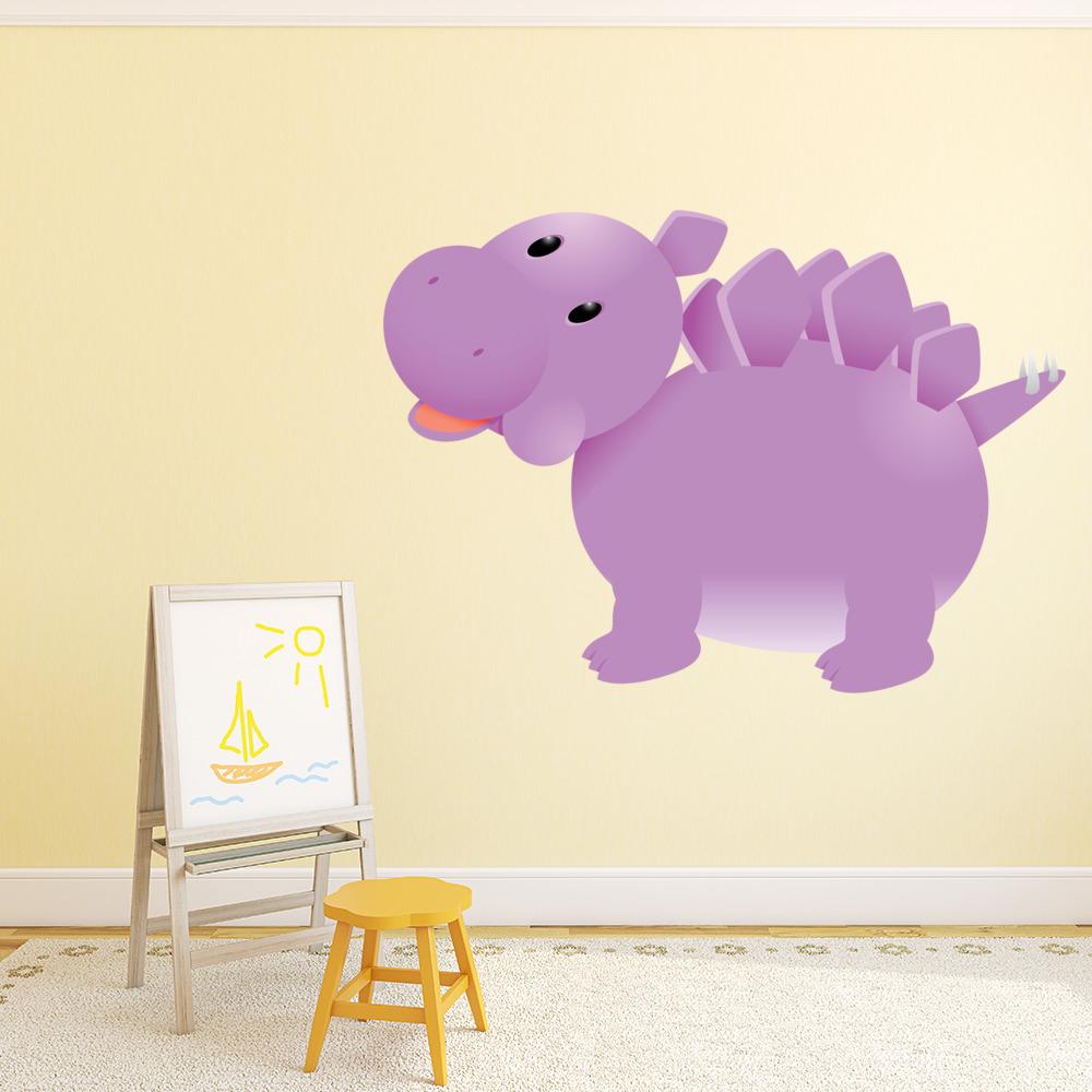Cartoon Stegosaurus Digital Wall Sticker