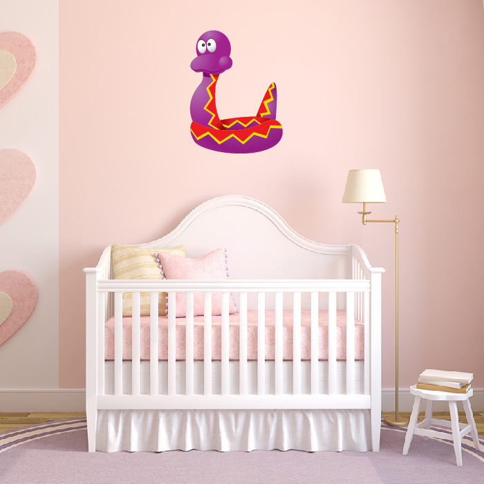 Purple Rattle Snake Digital Wall Sticker