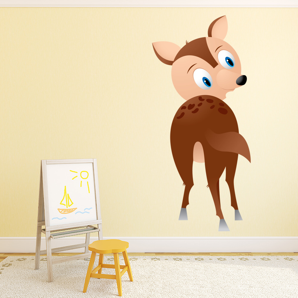 Cartoon Deer Digital Wall Sticker