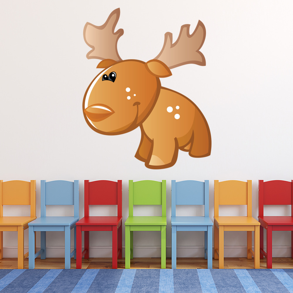 Cute Cartoon Moose Digital Wall Sticker
