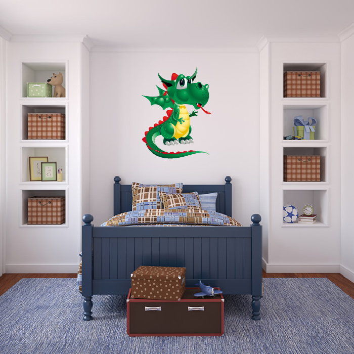 Green Dragon Digital Wall Sticker