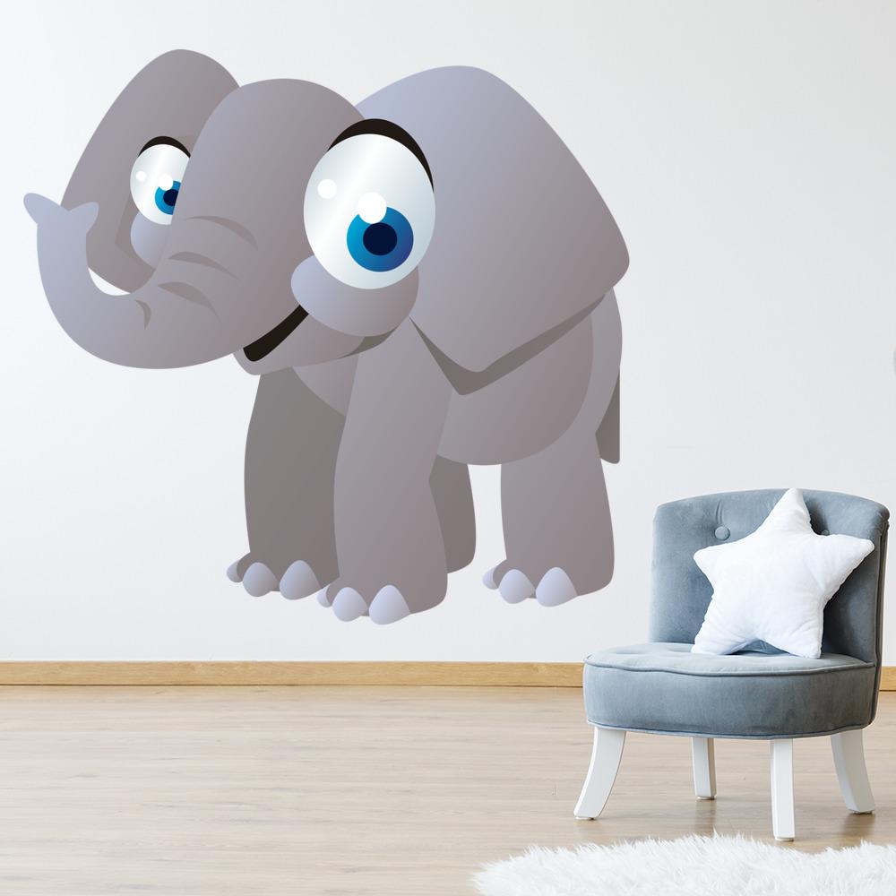 grey elephant wall sticker cute animals wall decal kids nursery home
