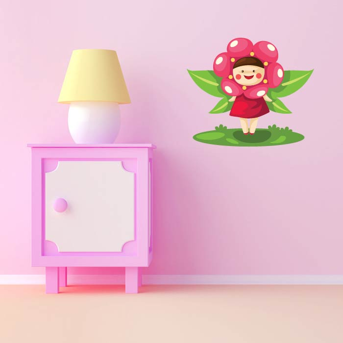 Flower Fairy Digital Wall Sticker