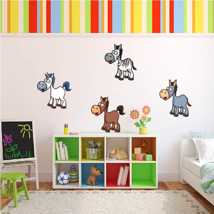 Horse Group Digital Wall Sticker