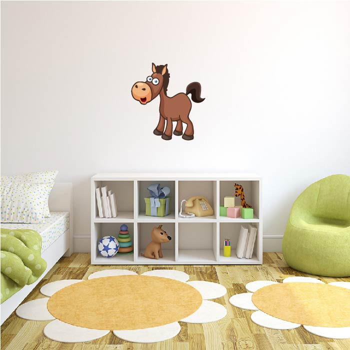 Brown Farm Horse Digital Wall Sticker