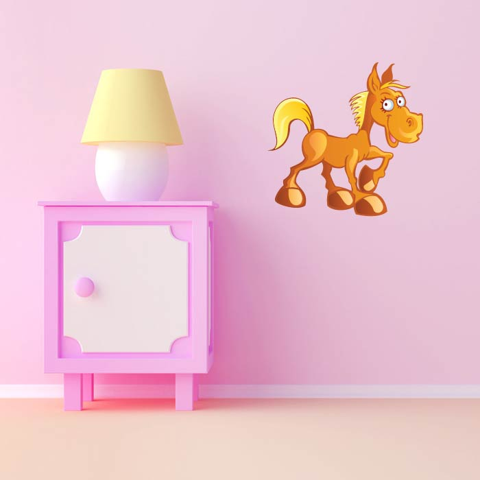 Golden Horse Digital Wall Sticker