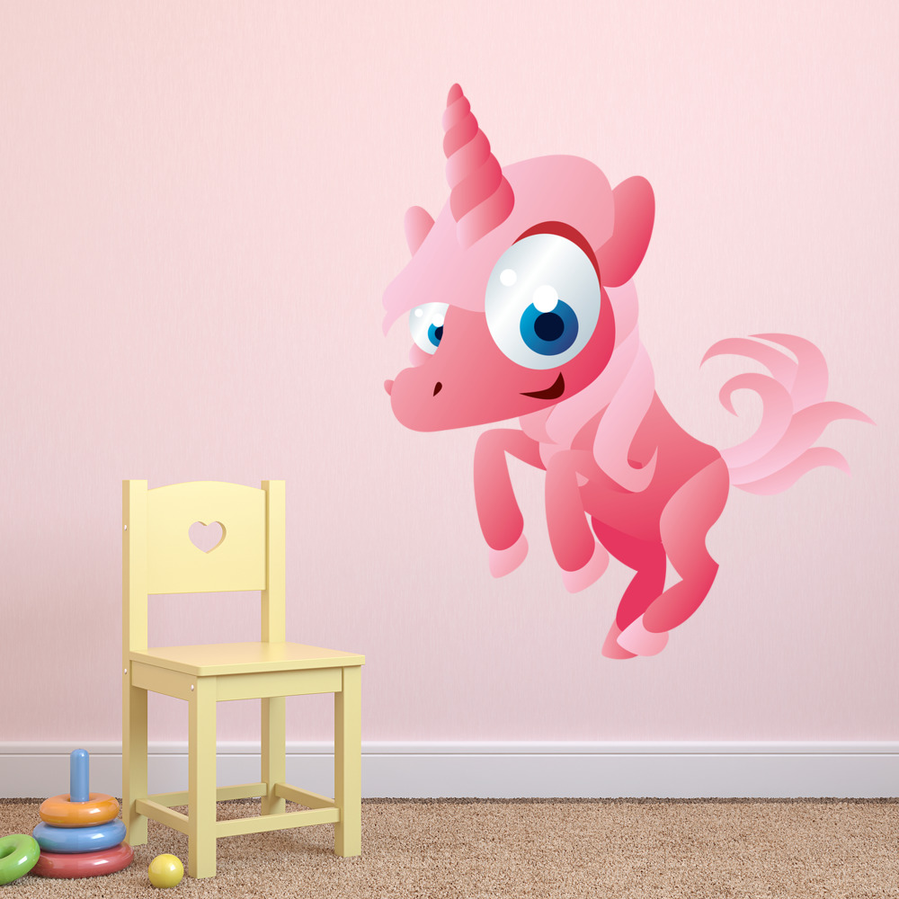 Pink Unicorn Digital Wall Sticker
