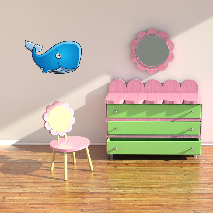 Blue Whale Digital Wall Sticker