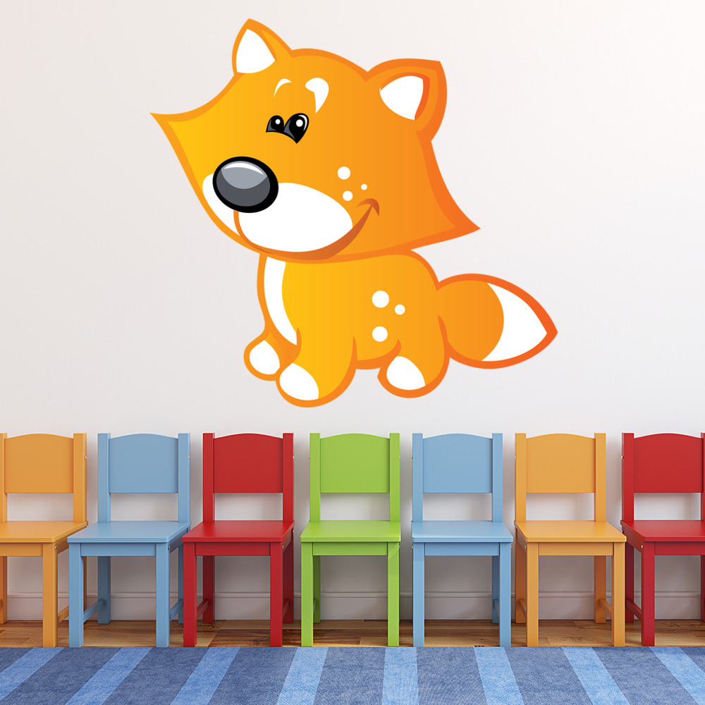 Cute Baby Fox Digital Wall Sticker