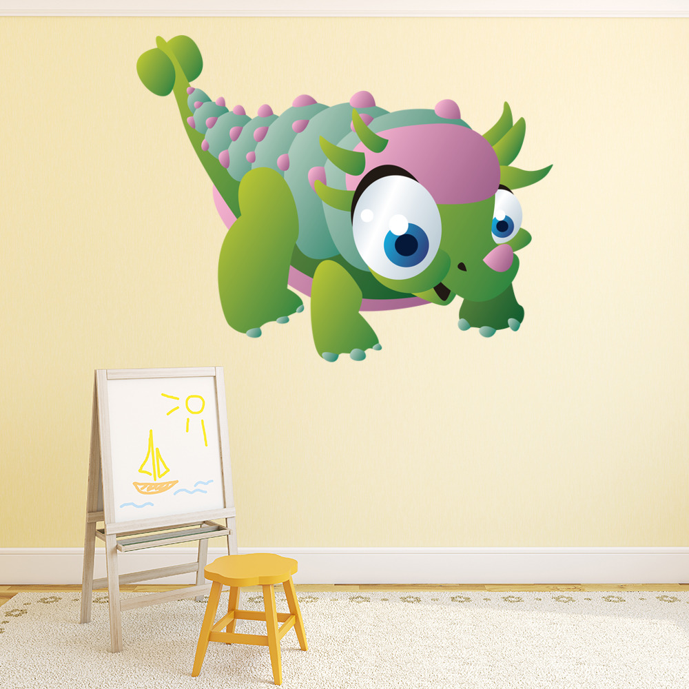 Spiked Baby Dinosaur Digital Wall Sticker