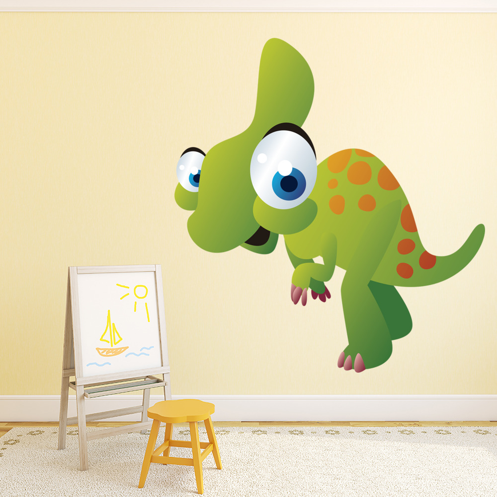 Cartoon Baby Dinosaur Digital Wall Sticker