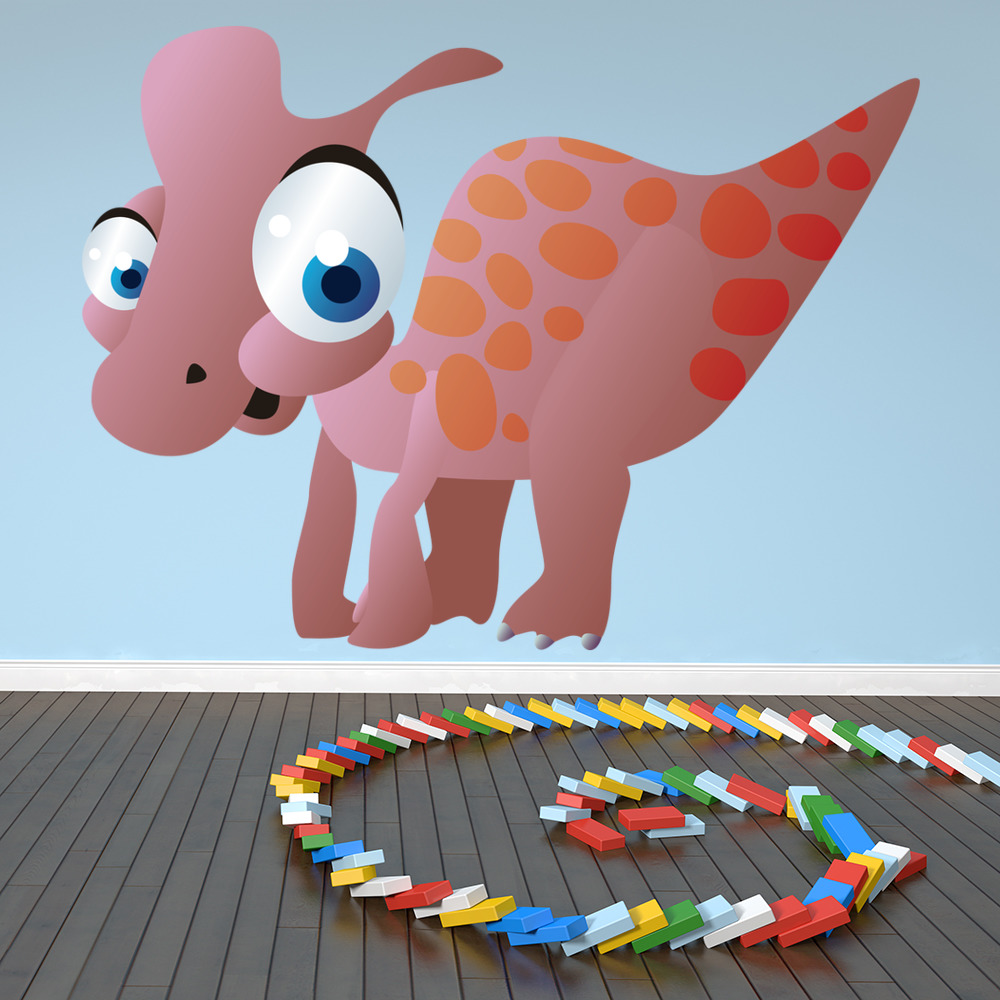 Cute Baby Dinosaur Digital Wall Sticker