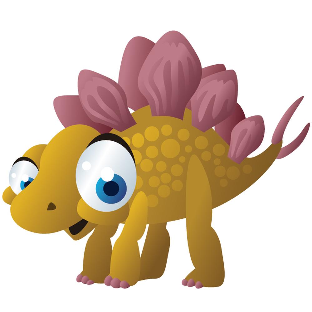 Cute Stegosaurus Wall Sticker Baby Dinosaur Wall Decal ...