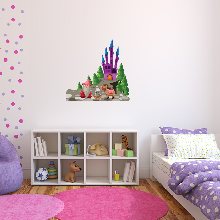 Magical Castle Digital Wall Sticker