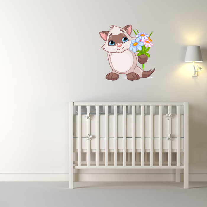 Siamese Kitten Digital Wall Sticker