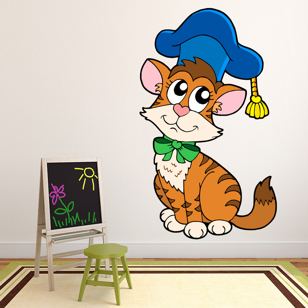 Teacher Kitten Digital Wall Sticker
