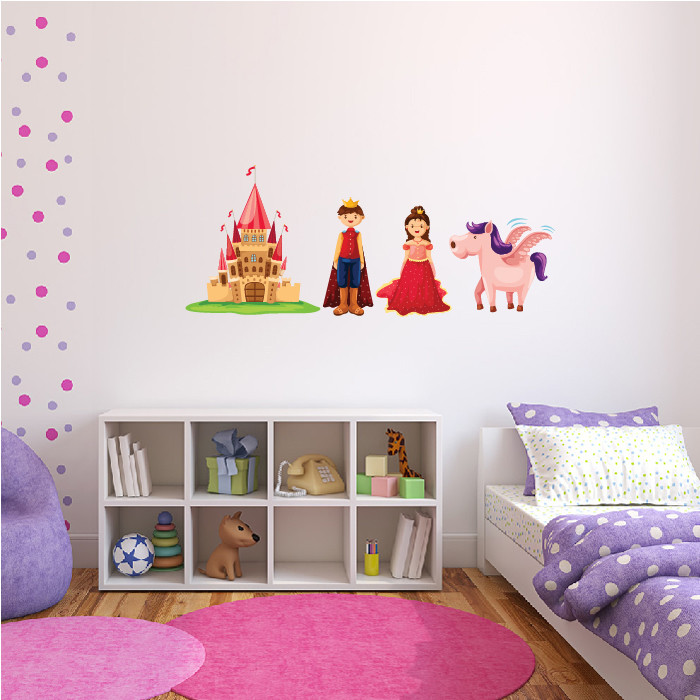 Princess Castle Group Digital Wall Sticker
