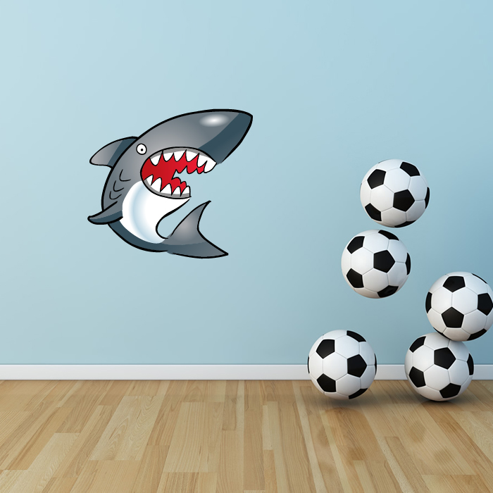 Cartoon Shark Digital Wall Sticker