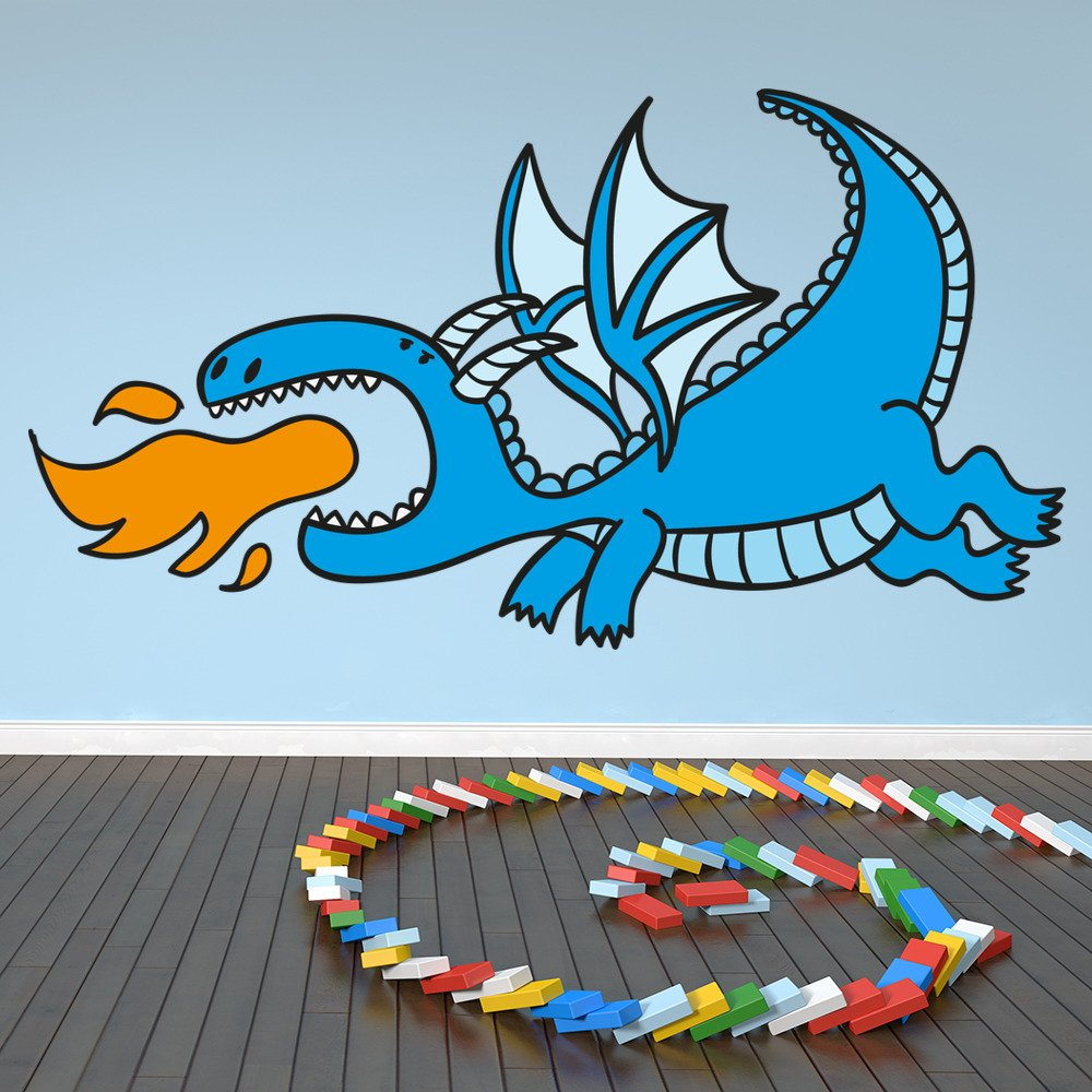 Cartoon Dragon Digital Wall Art Wall Sticker