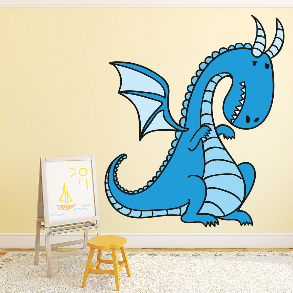 Cartoon Dragon Fire Digital Wall Art Wall Sticker