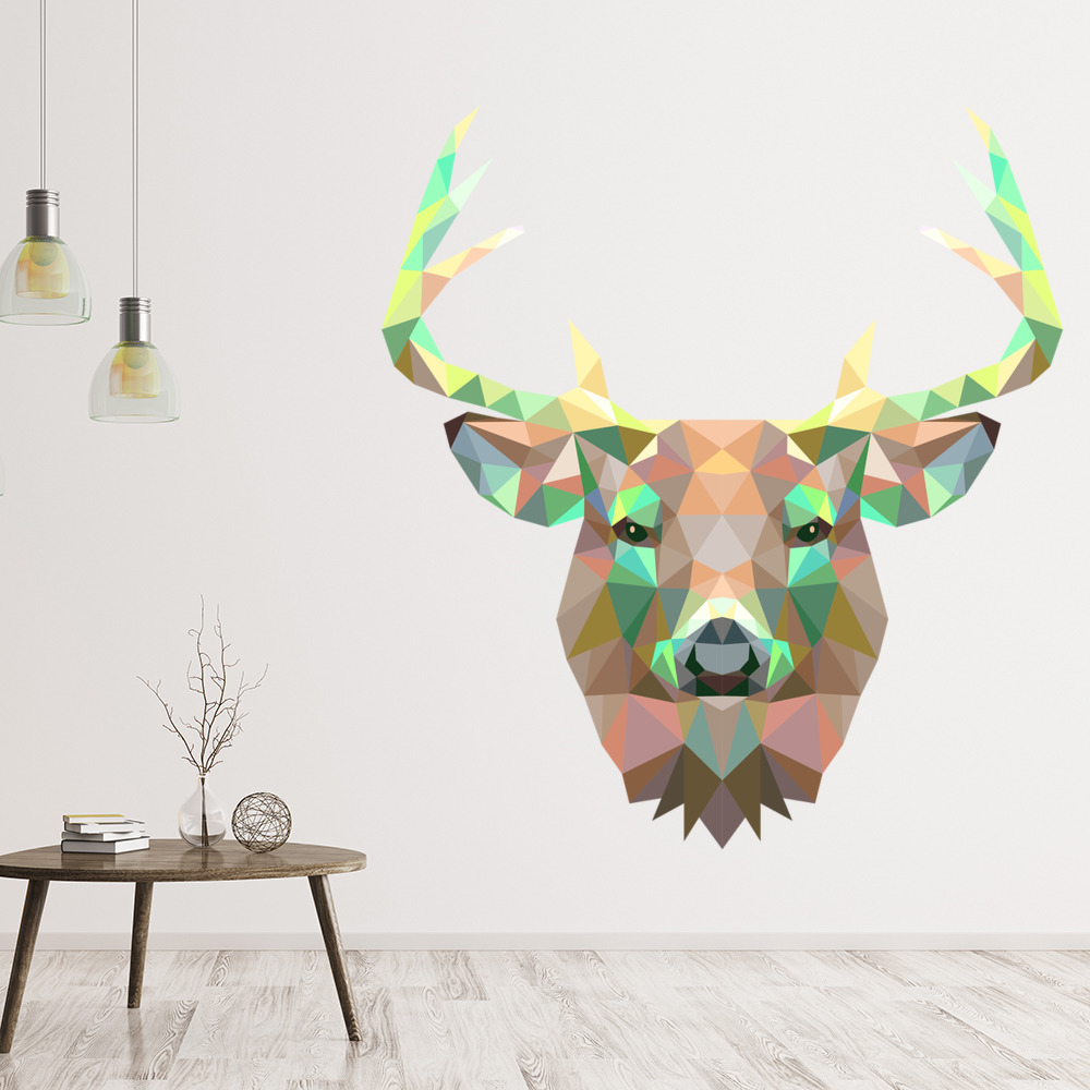 Deer Triangle Design Digital Wall Art Wall Sticker