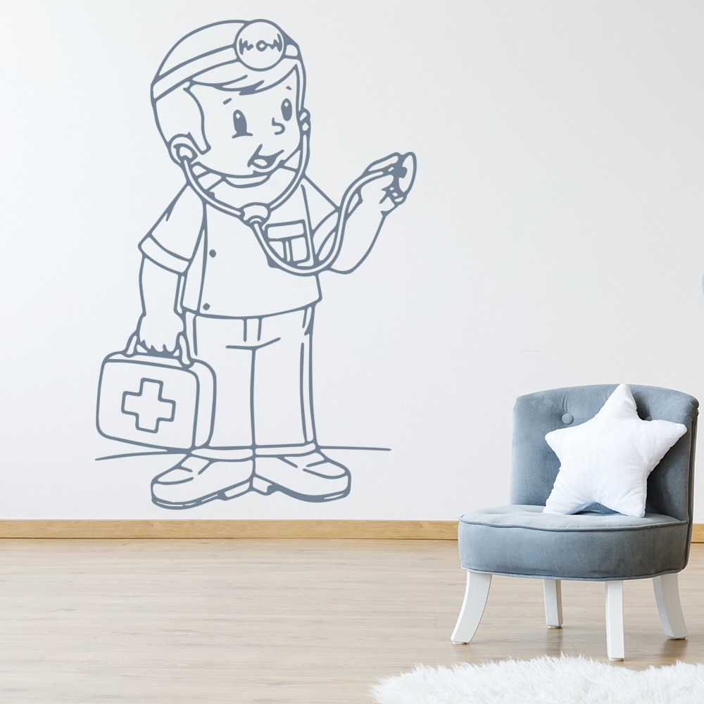 Doctor Wall Sticker Cartoon Wall Art