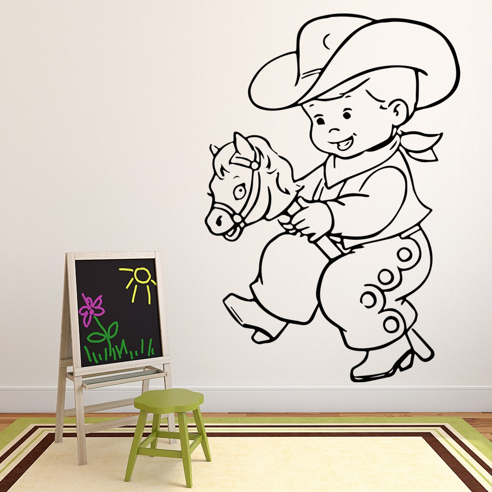 Baby Cowboy Wall Sticker Cartoon Wall Art