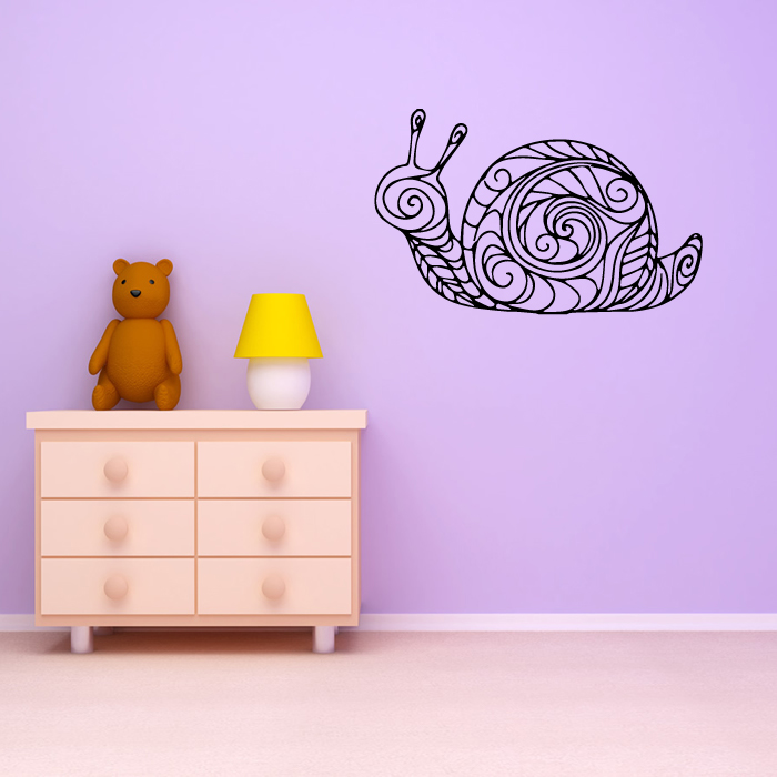 Floral Snail Wall Sticker Animal Wall Art