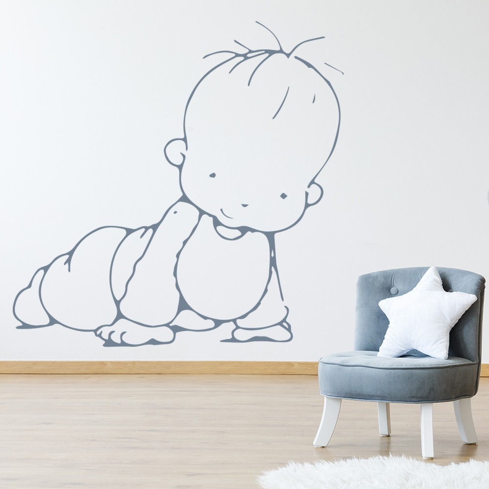Crawling Baby Wall Sticker Cartoon Wall Art