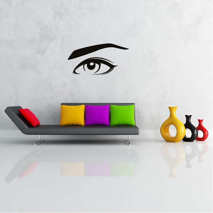 Eye And Eyebrow Wall Art Wall Sticker