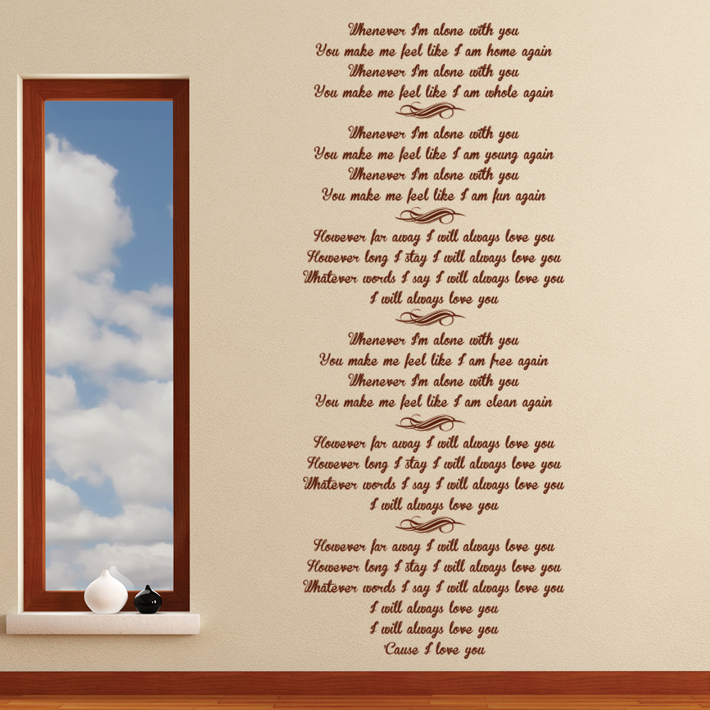 Adele 21 Lovesong Song Lyrics Wall Stickers Music Home Décor Art Decals