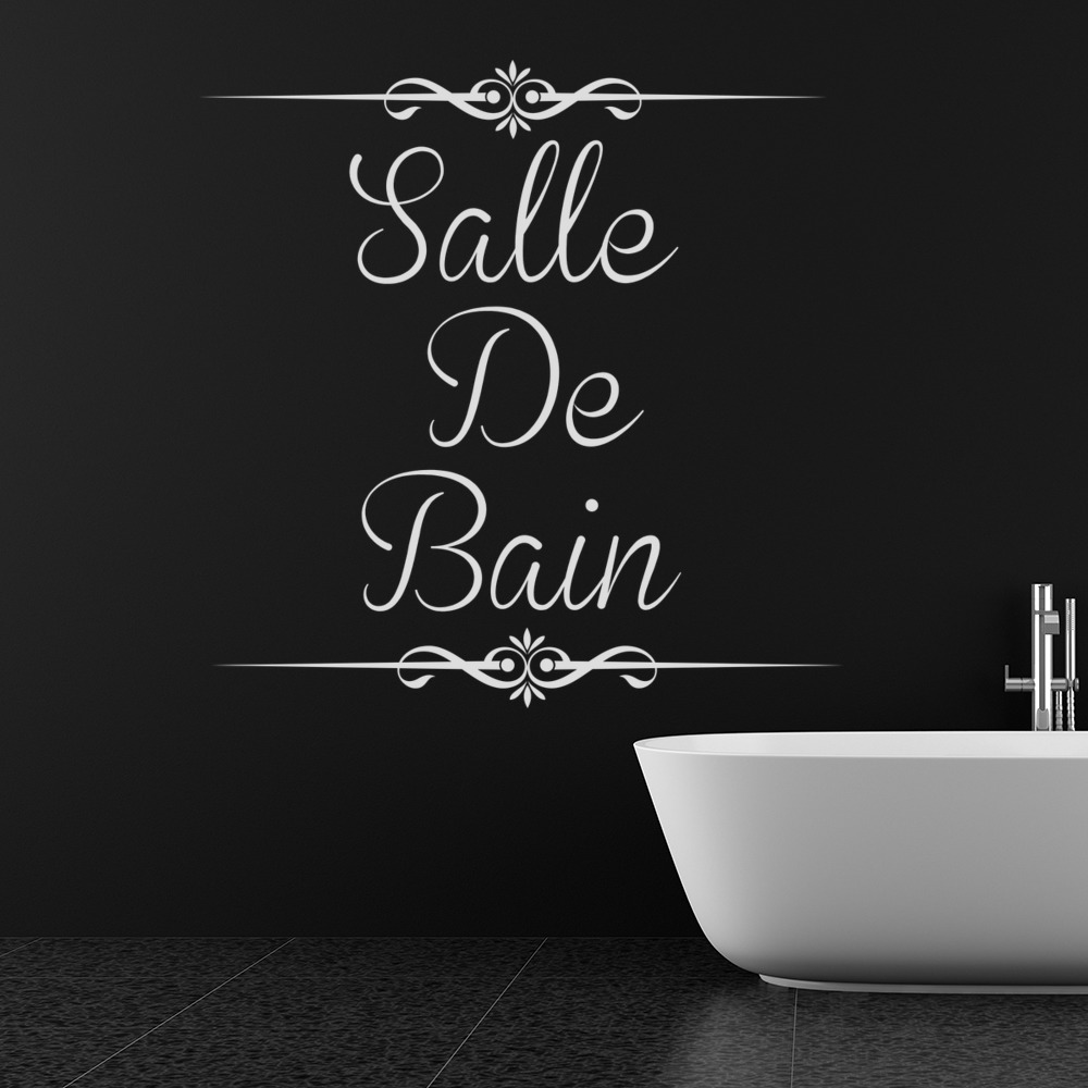 salle de bain wall sticker bathroom quote wall decal french home decor