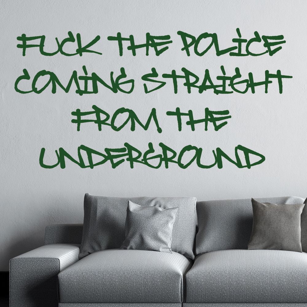 NWA Fuck The Police Song Lyrics Wall Stickers Music Décor Art Decals